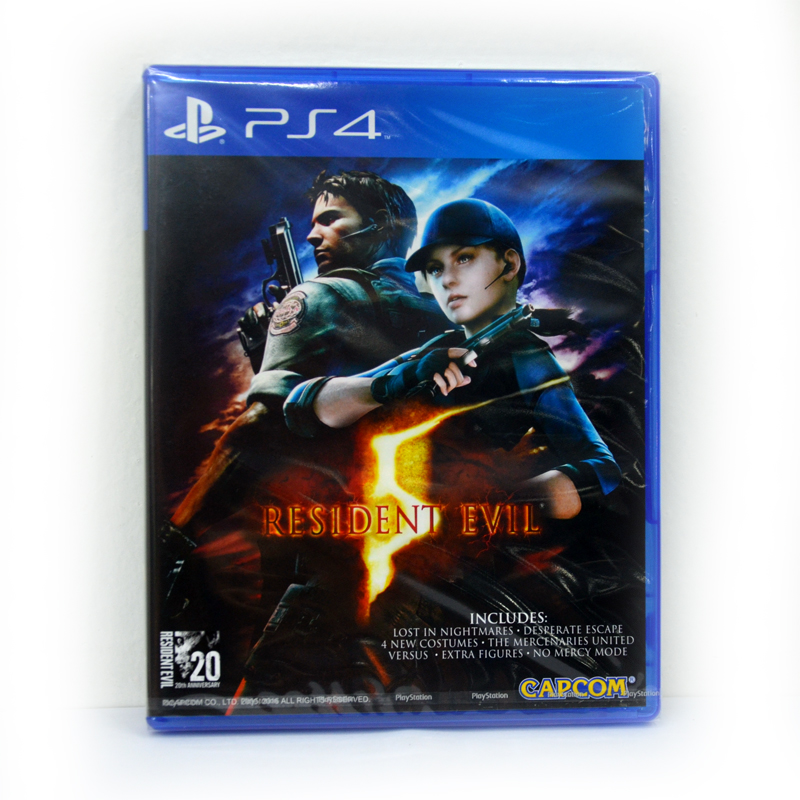 PS4™ Resident Evil 5 zone1 us , zone 2 Eu , Zone 3 Asia/ English Version
