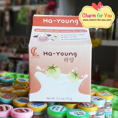 สบู่ฮายัง Ha-Young ราคาส่ง 3 ก้อน ก้อนละ 50 บาท/ 6 ก้อน ก้อนละ 40 บาท/ 12 ก้อน ก้อนละ 35 บาท/24 ก้อน ก้อนละ 32 บาท ขายเครื่องสำอาง อาหารเสริม ครีม ราคาถูก ของแท้100% ปลีก-ส่ง