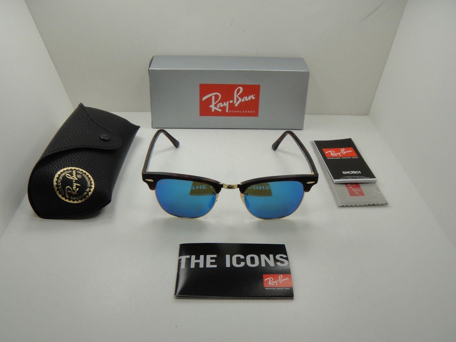 Ray Ban RB3016 114517 Clubmaster Blue Flash Mirror 51mm