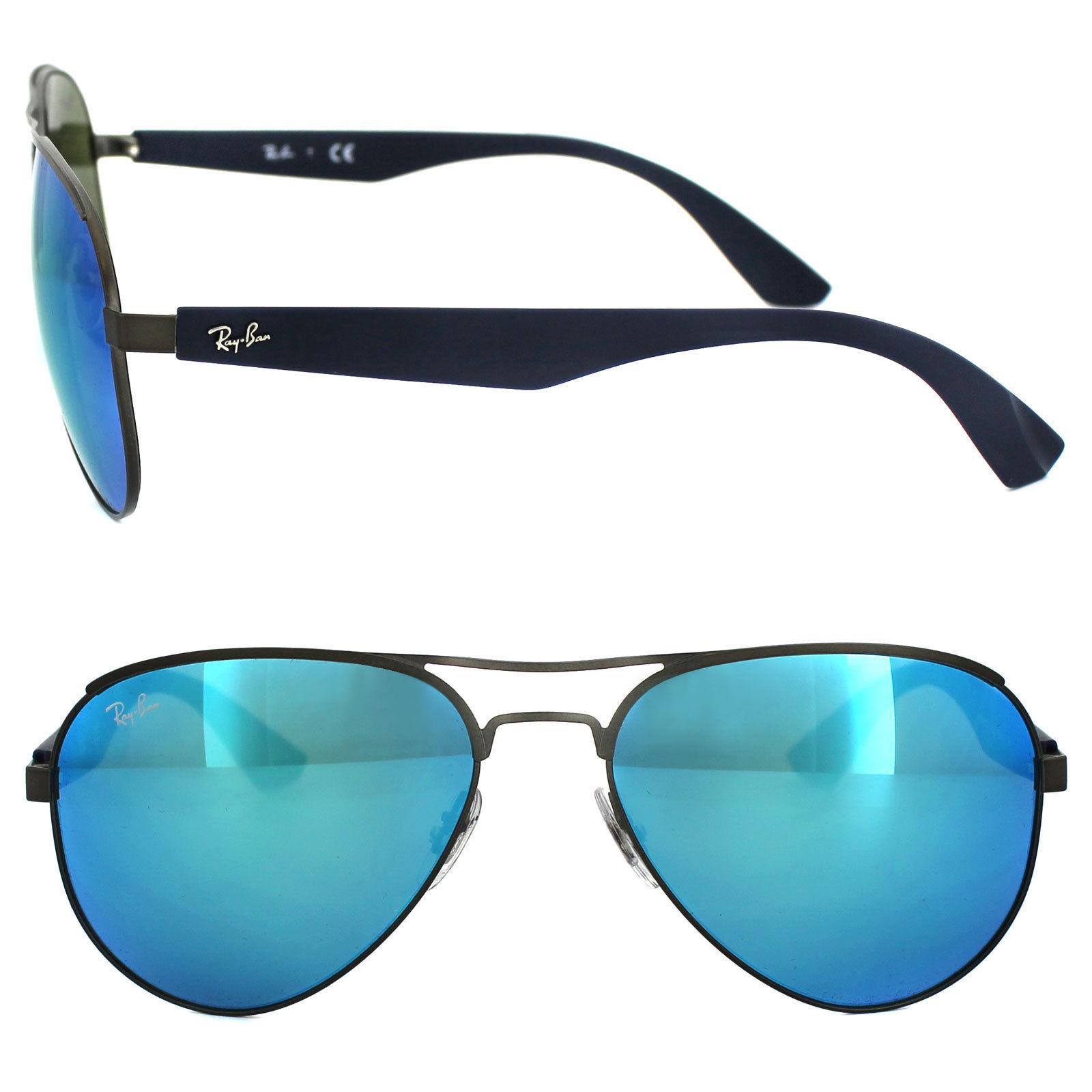 046c9b83c906c แว่นกันแดด Ray Ban RB3523 029 55 Gunmetal Blue Mirror แท้ ราคาพิเศษ ...