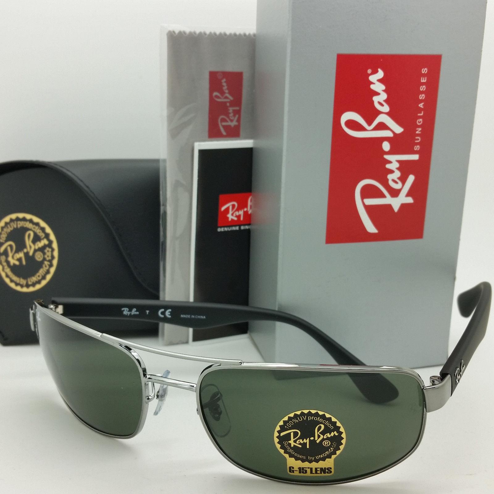 Ray Ban RB3445 004 61 Gunmetal Grey Green G15 61mm
