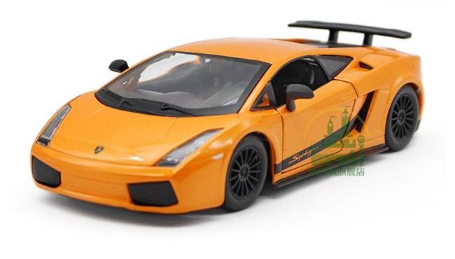 ขาย พรีออเดอร์ โมเดลรถเหล็ก โมเดลรถยนต์ Lamborghini Gallardo Superleggera ส้ม 1:24 มีโปรโมชั่น