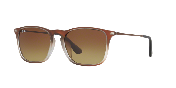 Ray Ban RB4187F 622413 BROWN SHOT ON BLACK Brown Gradient Dark Brown