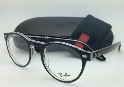 Ray Ban RB5283 2034 Black/Clear Round 47mm