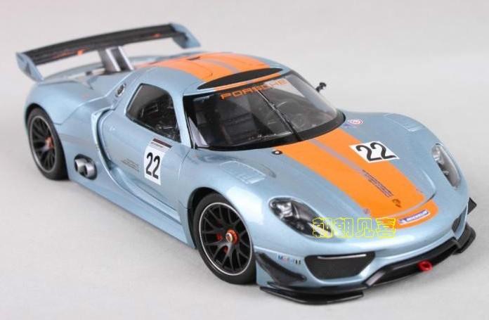 พร้อมส่ง โมเดลรถเหล็ก โมเดลรถยนต์ Porsche 918 RSR 1:24 มี โปรโมชั่น