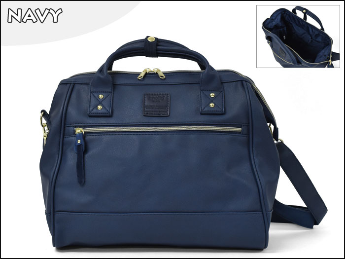 Large twoway Anello leather Shoulder Bag (สี Navy)
