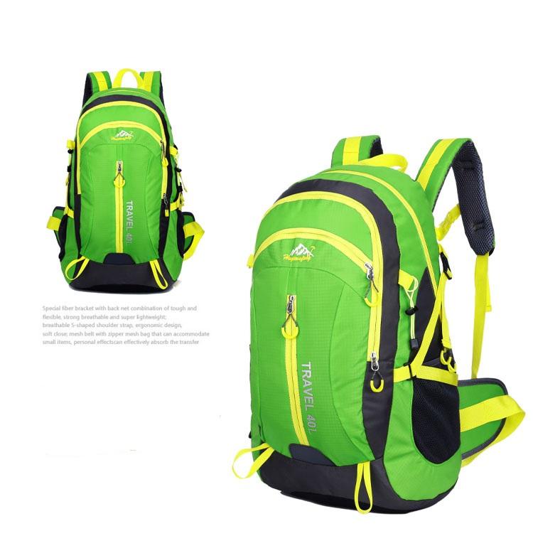 Outdoor mountaineering waterproof 40 ลิตร (สีเขียว)