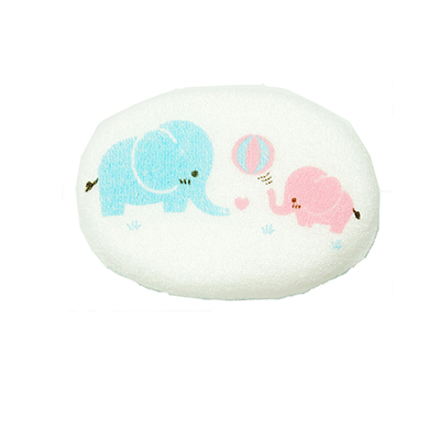 ฟองน้ำอาบน้ำเด็ก หุ้มผ้าขนหนู ลายช้าง
