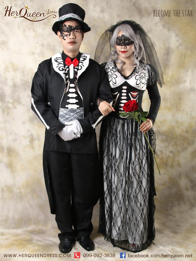 เช่าชุดแฟนซี &#x2665 ชุดแฟนซี ฮาโลวีน ชุดคู่ ชุดแต่งงานซอมบี้