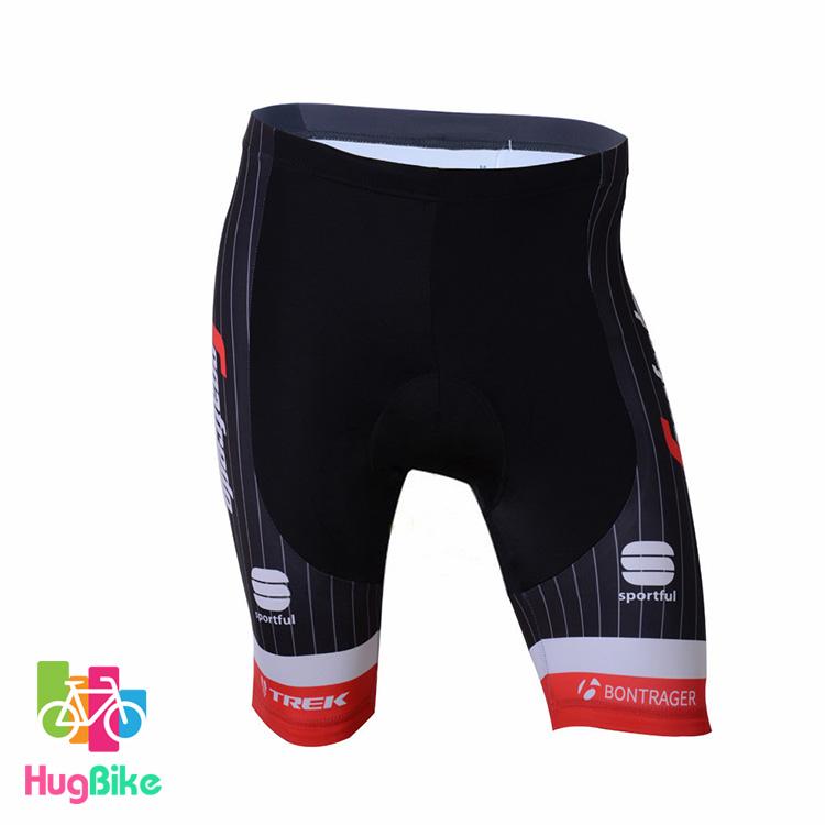 กางเกงจักรยานขาสั้นทีม Trek 17 (02) สีแดงดำ