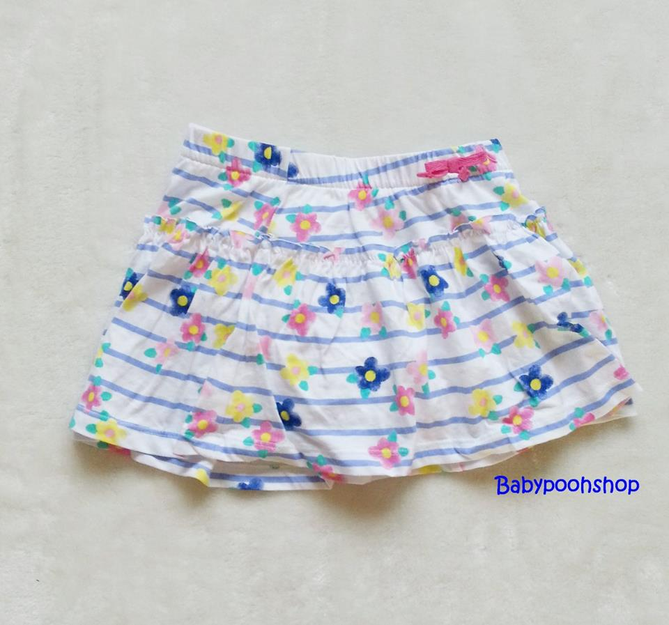 Jumping beans : กระโปรงสีขาวลายดอกไม้ ข้างในมีกางเกงค่ะ