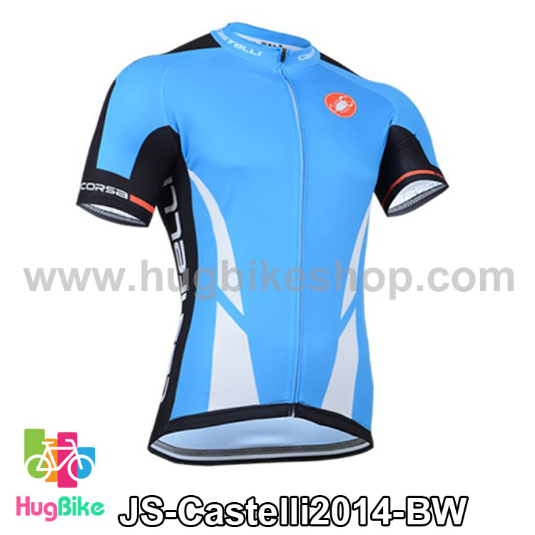 เสื้อจักรยานแขนสั้นทีม Castelli 2014 สีฟ้าขาว สั่งจอง (Pre-order)