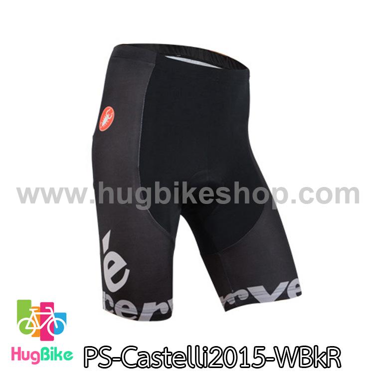กางเกงจักรยานขาสั้นทีม Castelli 15 สีดำ สั่งจอง (Pre-order)