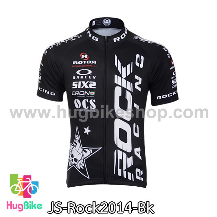 เสื้อจักรยานแขนสั้นทีม Rock Racing 2014 สีดำ สั่งจอง (Pre-order)
