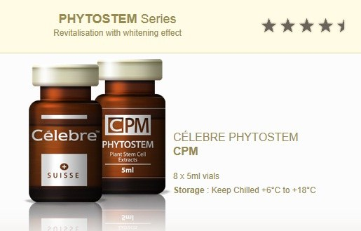 PHYTOSTEM CPM Celebre Plant Stem Cell Extracts 400MG (Whitening) 5ml Vegetal - Anti-aging benefits, Skin Brightness and Elasticity
