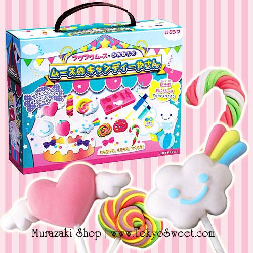 พร้อมส่ง ** Kutsuwa Fuwa Fuwa Mousse Clay Making Kit [Lollipop Candy Shop] เซ็ตตกแต่งดินญี่ปุ่นรูปอมยิ้ม เปเปอร์เคลของญี่ปุ่นจะนุ่มนิ่มน่าสัมผัส เล่นแล้วเพลินมากๆ ค่ะ