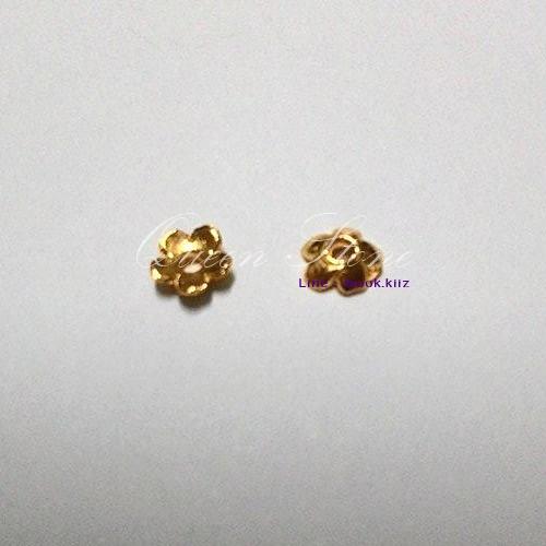 ตัวครอบดอกไม้สีทอง (1 คู่)