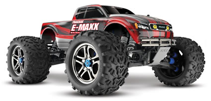 E-Maxx Brushless 4WD electric monster truck RTR with 2.4GHz 2-channel radio system and Mamba Monster Brushless System #3908