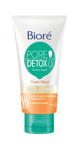 บิโอเร Biore Pore Detox Onsen Effect Facial Foam 100 g.