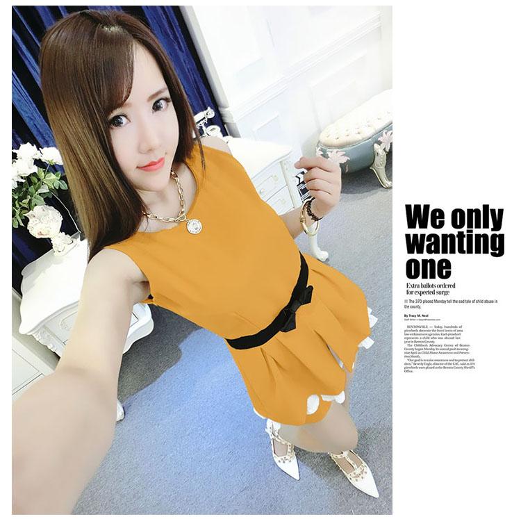 ชุดกางเกงสไตล์เกาหลี ระบายซับชีฟอง น่ารักฝุดๆเลยน้า มี 4สีค่ะ
