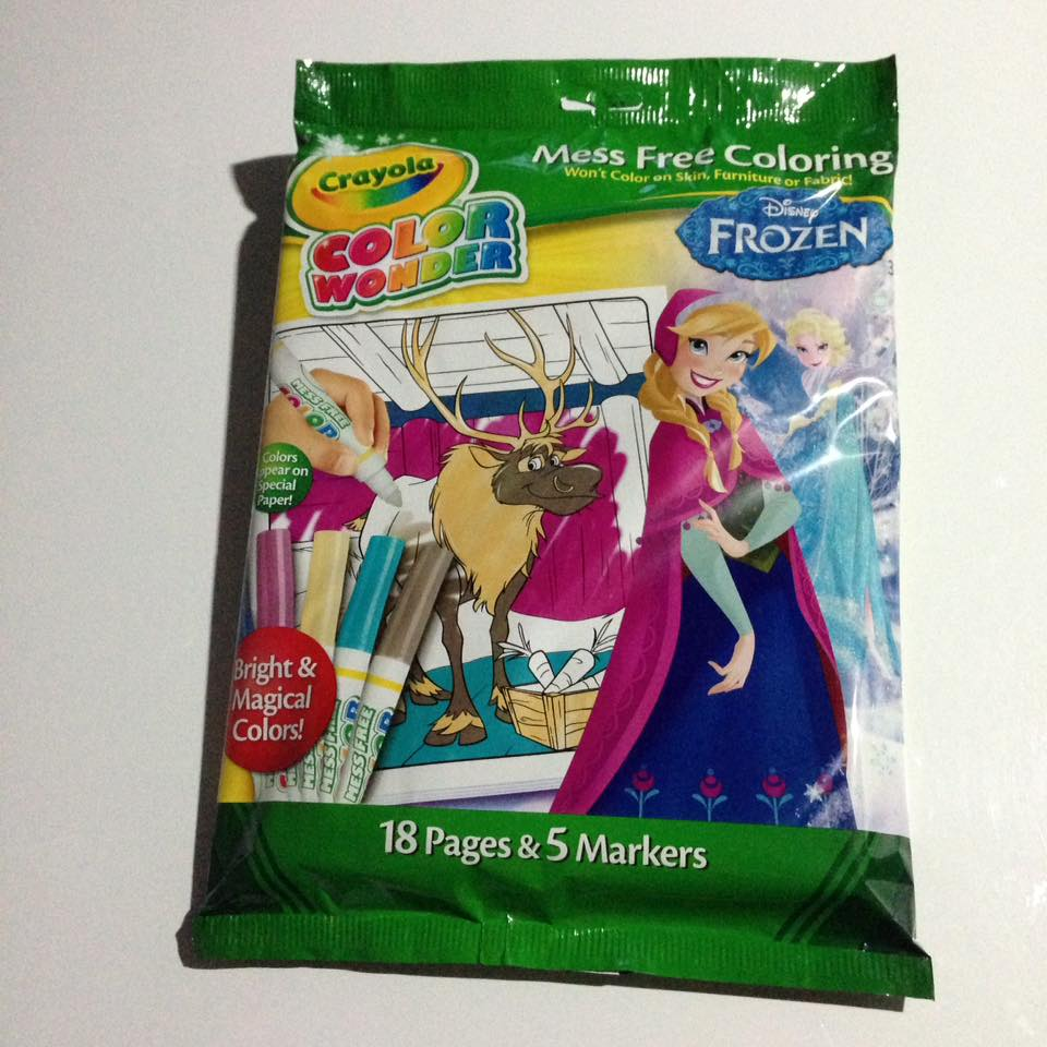 Crayola Color Wonder coloring book: Frozen สมุดระบายสีพร้อมสีเมจิก ชุดคัลเลอร์วันเดอร์ โฟรเซน