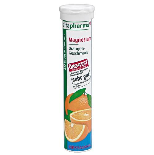 """Altapharma Magnesium วิตามินเม็ดฟู่ละลายน้ำ """"แมกนีเซียม"""" รสส้ม 20เม็ด ช่วยในการทำงานของเส้นประสาทและกล้ามเนื้อ เป็นแร่ธาตุที่ช่วยผ่อนคลายความเครียดได้ และยังช่วยในการเผาผลาญไขมันและเปลี่ยนเป็นพลังงาน"""