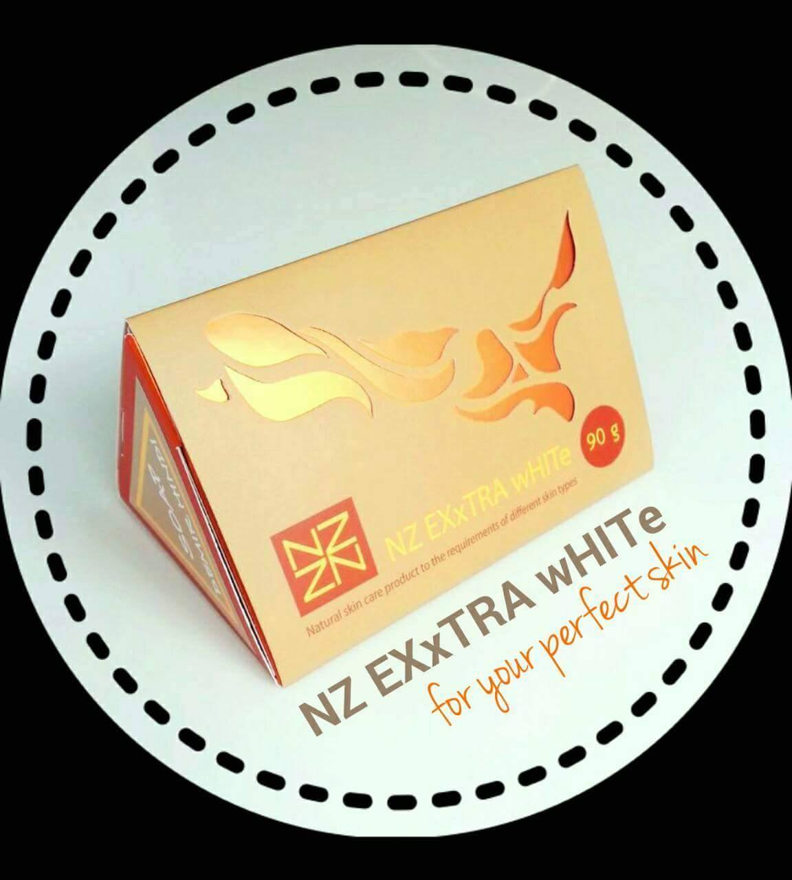 "NZ EXxTRA wHITe SOAP ""สูตรออร่านางฟ้า"" สูตร ขาวไว ที่สุด"