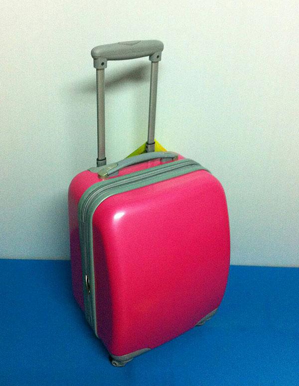 กระเป๋าเดินทาง PC 16 นิ้ว 4 ล้อ สีบานเย็น