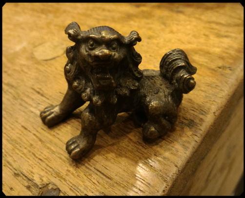 สิงโตจีนทองเหลือง เล็ก