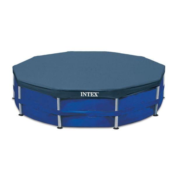 ผ้าคลุมสระน้ำขนาดใหญ่ Intex Metal Frame pool Intex-28030 (ขนาด 10 ฟุต)