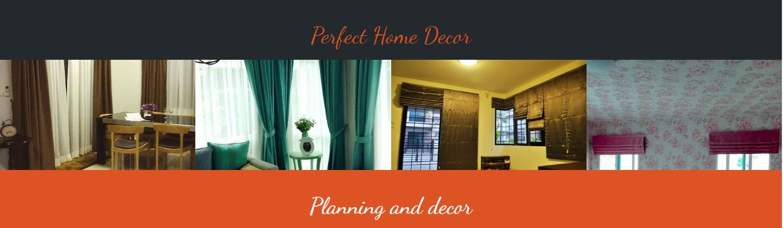 Perfect Home Decor รับออกแบบ ตกแต่ง ติดตั้งผ้าม่าน มู่ลี่ วอลเปเปอร์ ฉากกั้นห้องราคาสบายกระเป๋า พร้อมมีบริการซัก ทำความสะอาดและซ่อมอุปกรณ์เกี่ยวกับผ้าม่าน