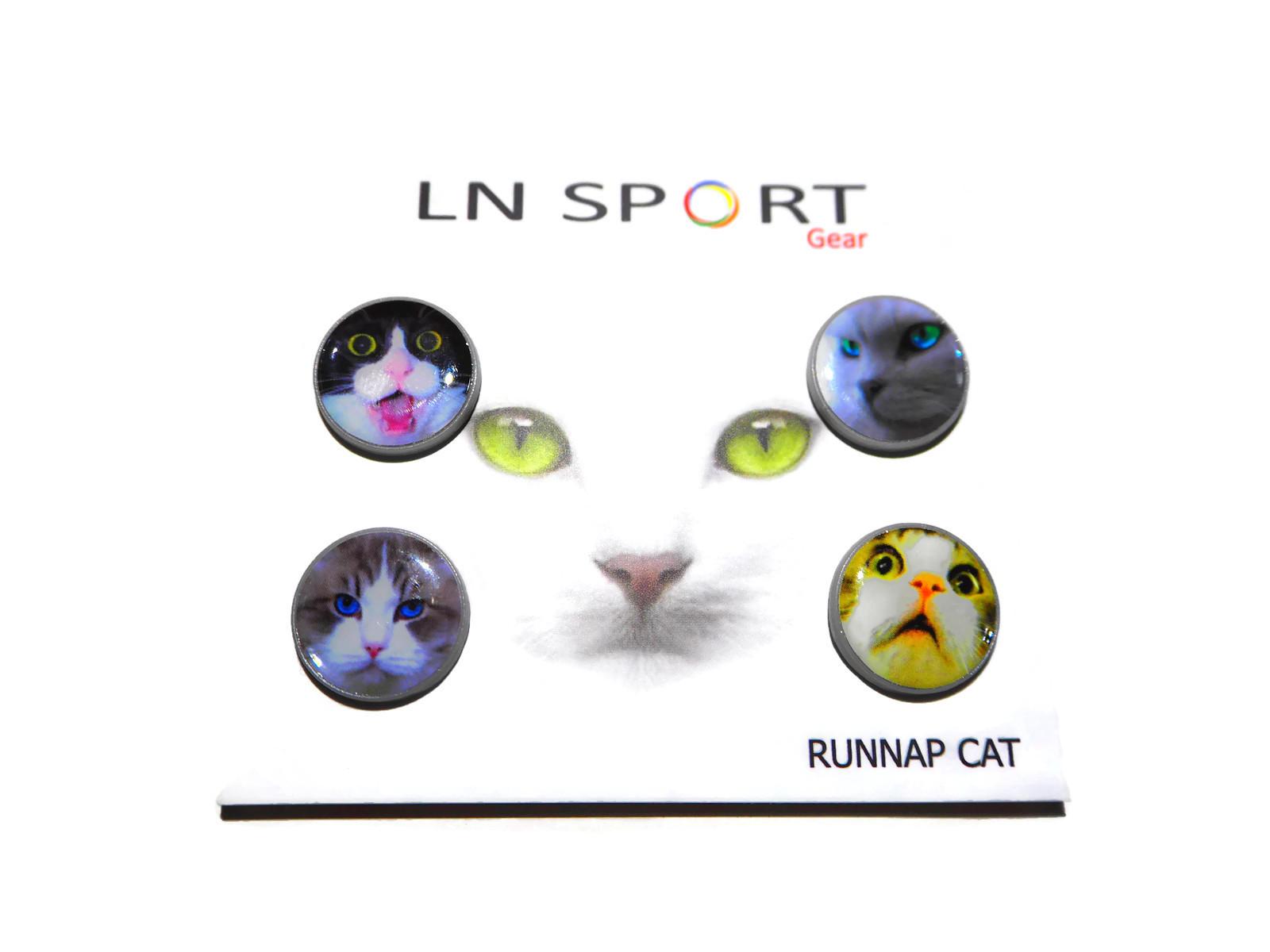 LN Sport ตัวติดเบอร์วิ่ง Runnap (BIB Race Number Holder) ลายแมว for Cat Lover
