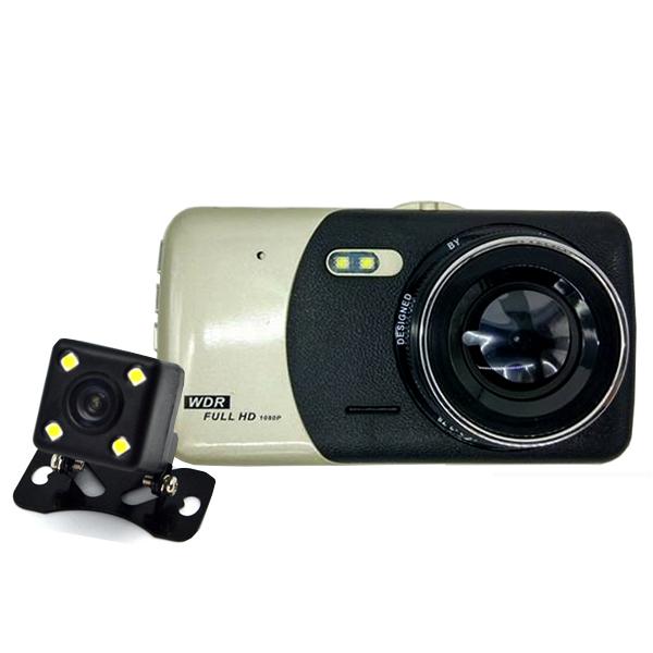 nikytech กล้องติดรถยนต์ 1080p มีกล้องหลัง WDR - A1