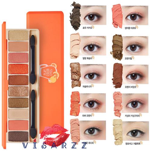 (ขายส่ง 460-) Etude House Play Color Eyes # Juice Bar อายแชโดว์พาเลท บรรจุ 10 เฉดสีสวย เนรมิตให้ดวงตาคู่สวย ดูโดดเด่น เรียบหรู คลาสสิค