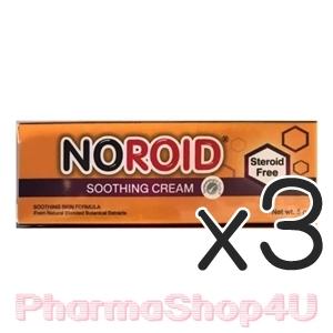 (ซื้อ3 ราคาพิเศษ) NOROID SOOTHING CREAM 5 กรัม โนรอยด์ซูทติ้ง ครีมสำหรับผิวแห้งและผิวแพ้ง่าย