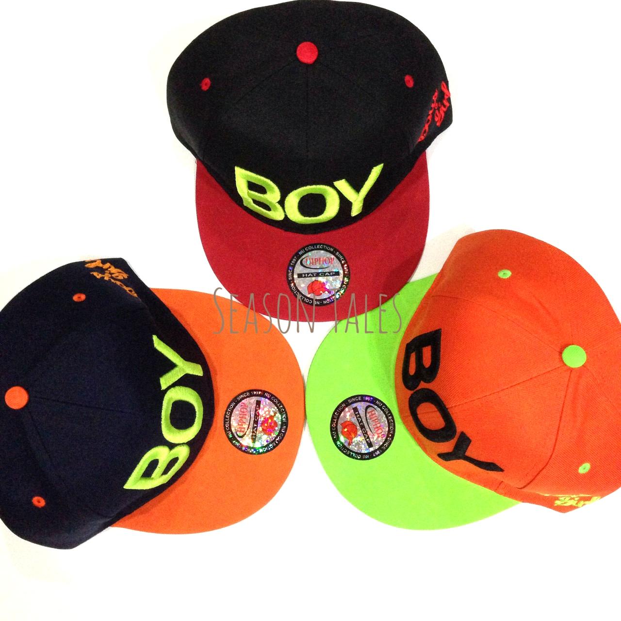 หมวก ฮิปฮอป Snapback ปัก BOY