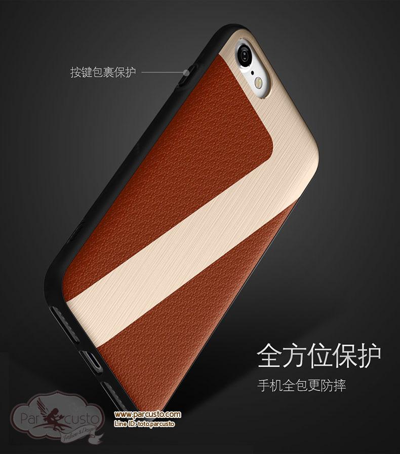เคสกันกระแทก Apple iPhone 7 และ 7 Plus [DESOF] หนัง PU จาก ICON [Pre-order]