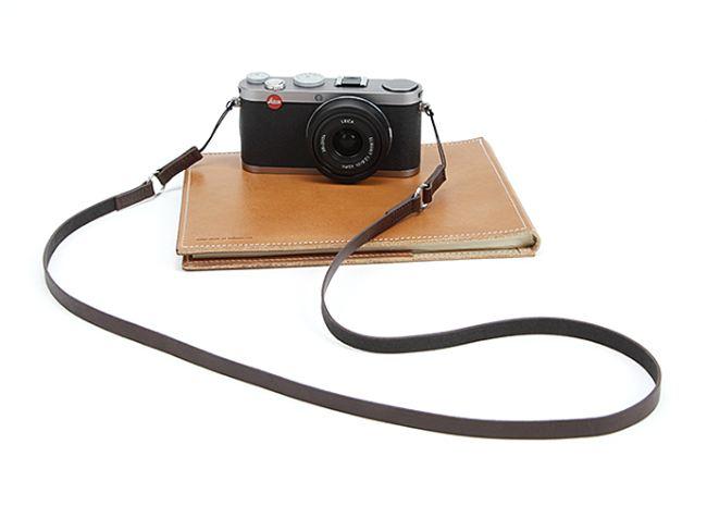 สายคล้องกล้องหนังแท้ cam-in Simple Leather สายหนังเส้นเล็ก ร้อยรูเล็กได้ สีน้ำตาลเข้ม