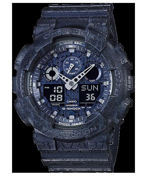 นาฬิกา Casio G-Shock GA-100CG Cracked pattern series รุ่น GA-100CG-2A ของแท้ รับประกัน1ปี