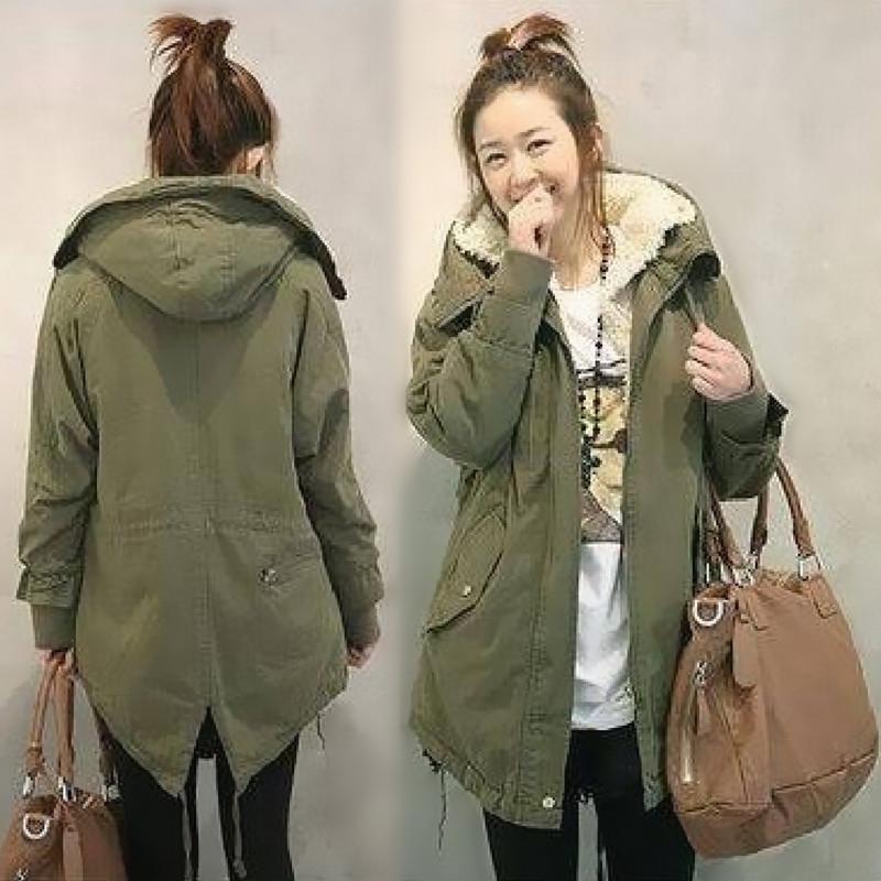 Pre-เสื้อโค้ทกันหนาวมีฮู้ดบุด้านในหนา มีสีเขียวทหาร และ สีดำ Size M-XXL