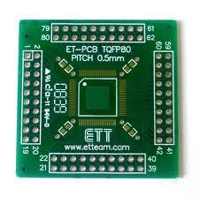 PCB CONVERT TQFP80 PIN SMD to DIP