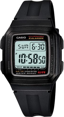 นาฬิกา คาสิโอ Casio 10 YEAR BATTERY รุ่น F-201WA-1A