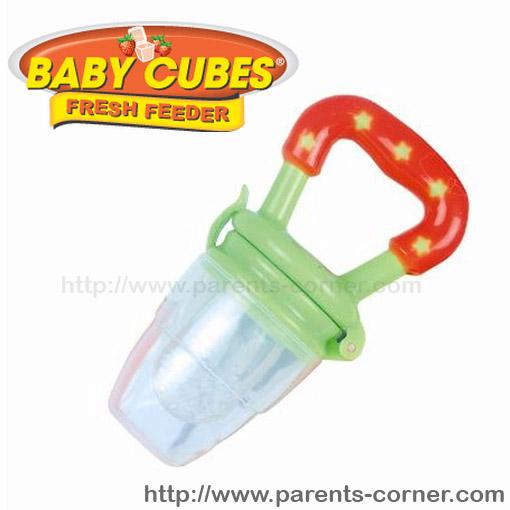 ซิลิโคนใส่อาหารหัดถือทานเอง Baby cubes - สีเขียว