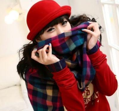 หมวกชาลี สีแดง