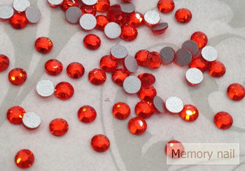 เพชรชวาติดเล็บ สีแดงส้มแสด ขนาด 16