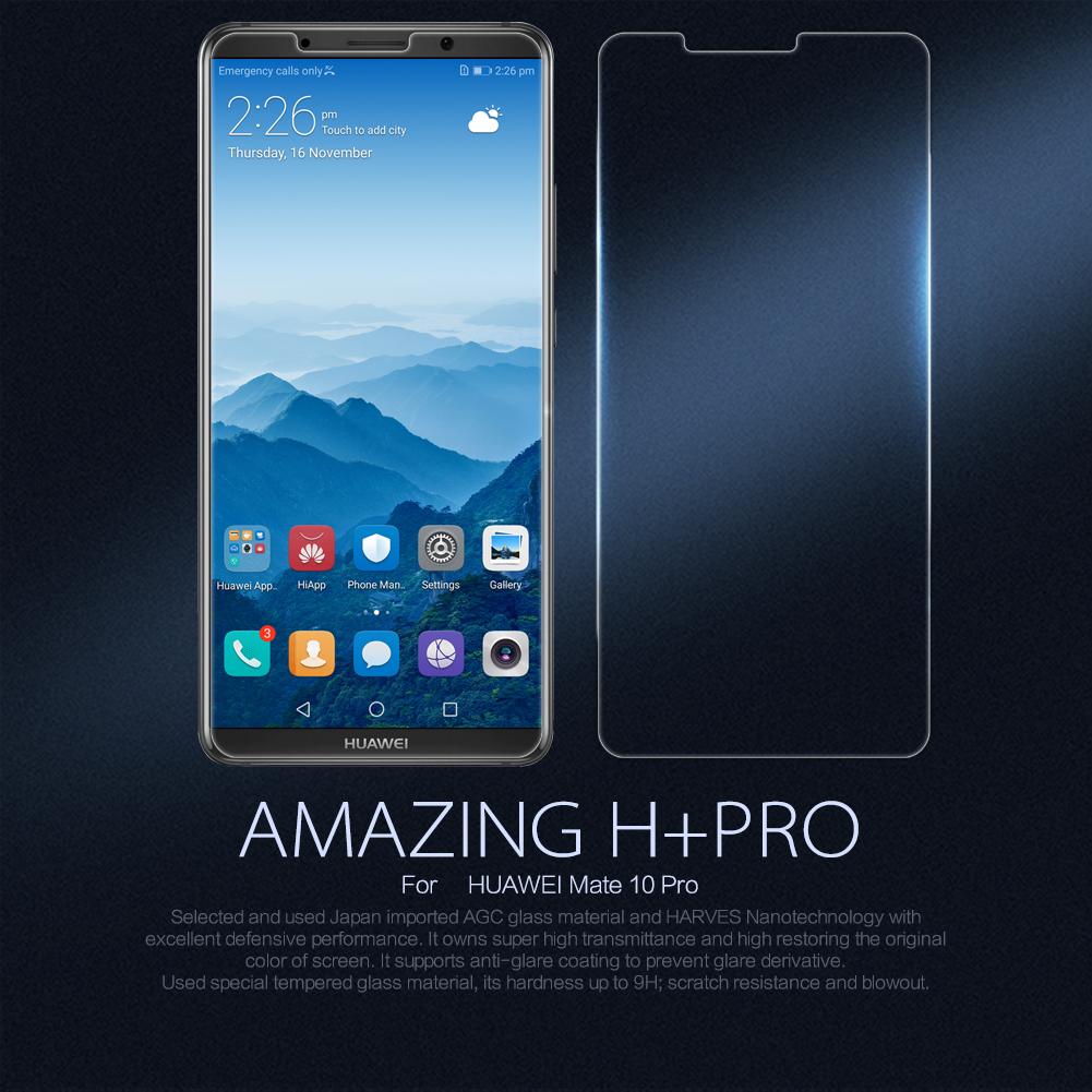 กระจกนิรภัย NILLKIN 9H+ PRO Huawei Mate 10 Pro แถมฟิล์มติดเลนส์กล้อง