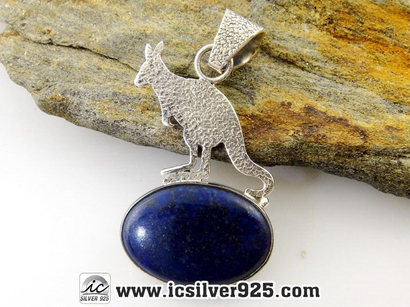 ▽ลาพิส ลาซูลี่ (Lapis Lazuli) จี้เงินแท้ 925 (6.3g)