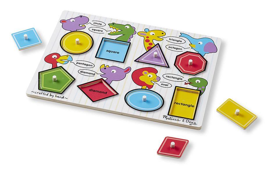 จิกซอไม้ รูปร่าง Shapes Peg Puzzle
