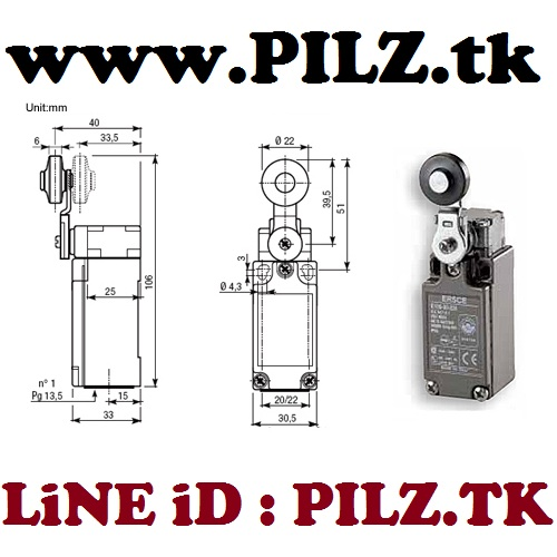 E100-01-EM Bremas ERSCE Limit Switch LiNE iD PILZ.TK