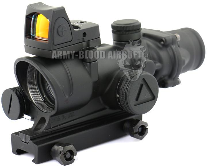 New.Trijicon TA02 ACOG 4x32 Red Illuminated Scope W/ RM06 RMR Sight Adjustablenext ราคาพิเศษ